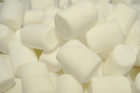大粒のホワイトマシュマロの素材 [FYI00277907]