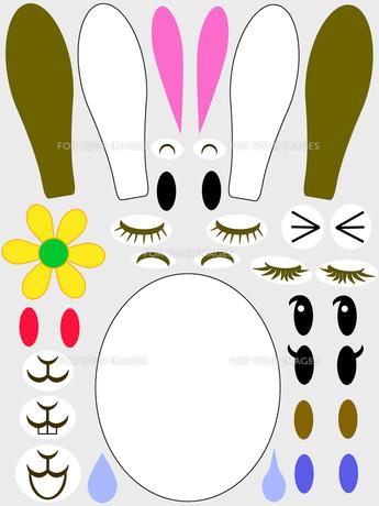 ウサギの福笑いの写真素材 [FYI00277984]