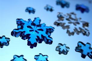 雪の結晶の飾りの素材 [FYI00278619]