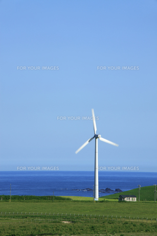 風力発電用風車の写真素材 [FYI00278974]