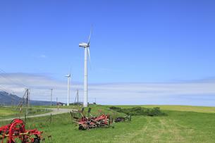 風力発電用風車の写真素材 [FYI00279042]