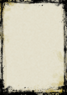 墨の縁取りの紙の素材 [FYI00279260]