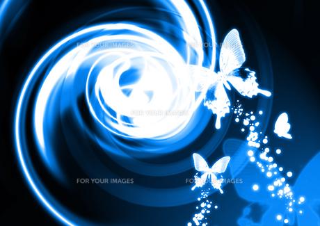 光と蝶の背景の素材 [FYI00279267]