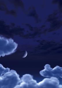 雲の上の三日月の素材 [FYI00279268]