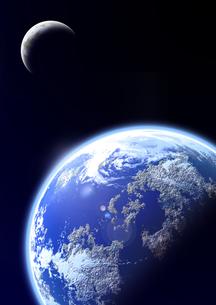 地球と月のイメージの素材 [FYI00279272]