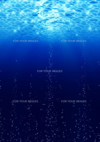 水中から湧き上がる泡の素材 [FYI00279311]