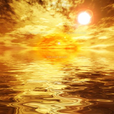 金色に輝く海の素材 [FYI00279318]