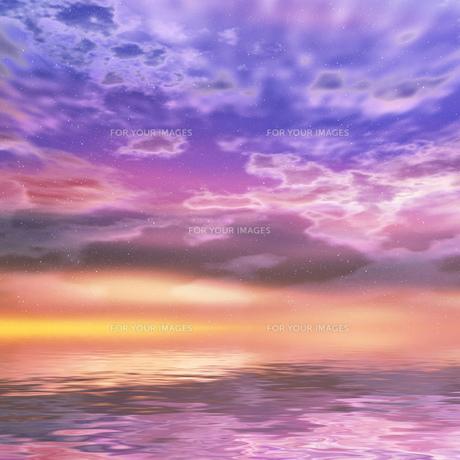夕暮れの海の素材 [FYI00279322]
