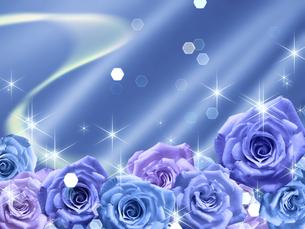 青い薔薇の背景素材の素材 [FYI00279328]