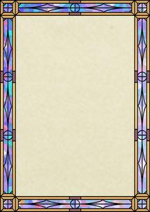ステンドグラスの飾り枠の素材 [FYI00279346]