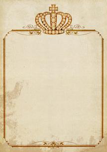 王冠の飾り枠の素材 [FYI00279358]