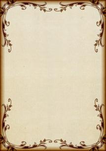 ツタの飾り枠の紙の素材 [FYI00279375]