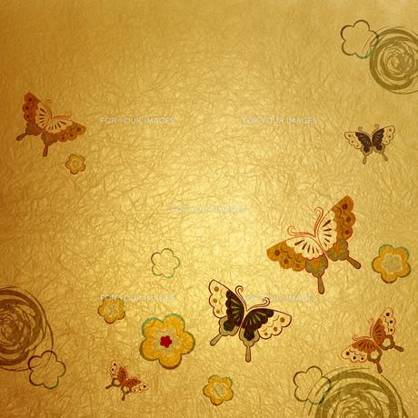 和風の背景 蝶の素材 [FYI00279379]