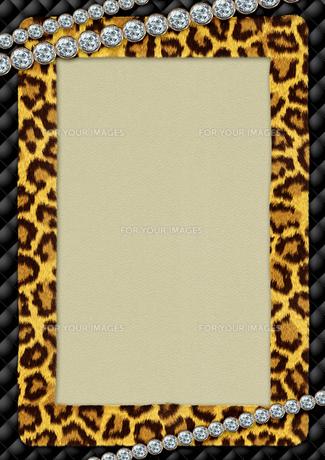 豹柄のメッセージカードの素材 [FYI00279399]