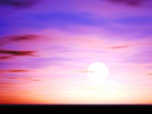 夕焼けと地平線の素材 [FYI00279455]