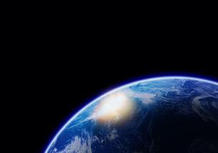 宇宙空間 地球の素材 [FYI00279459]