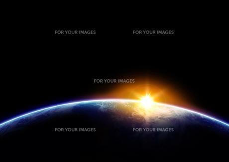 輝く地球の素材 [FYI00279474]
