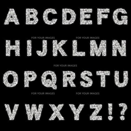 ラインストーンのアルファベットの素材 [FYI00279497]