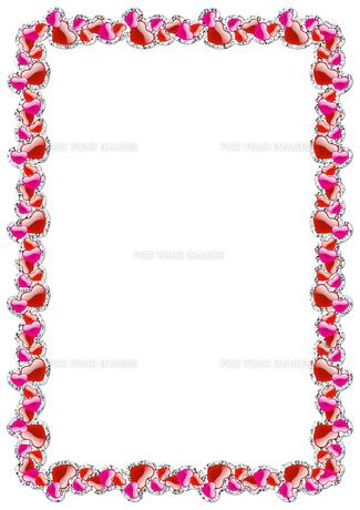 ハートの飾り枠の素材 [FYI00279548]