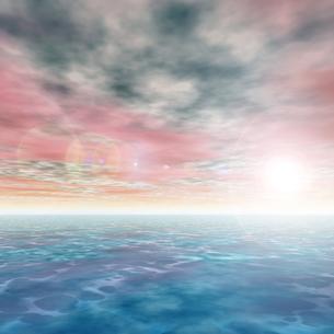朝焼けの海の素材 [FYI00279581]