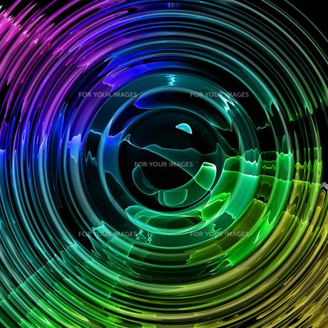光の揺れる波紋の素材 [FYI00279587]