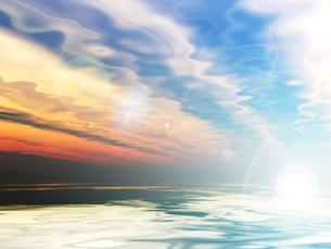 朝焼けの海の素材 [FYI00279589]