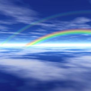 虹のかかる風景の素材 [FYI00279593]
