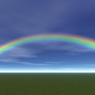 虹のかかる風景の素材 [FYI00279596]