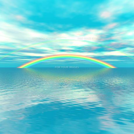 虹のかかる風景の素材 [FYI00279607]