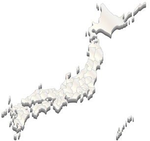 日本地図の写真素材 [FYI00279740]
