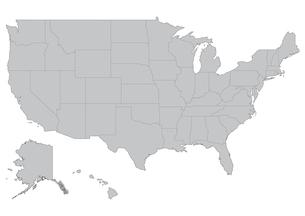 アメリカの地図の素材 [FYI00279750]