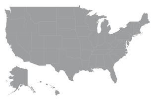 アメリカの地図の写真素材 [FYI00279754]