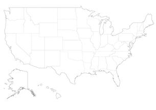 アメリカの地図の素材 [FYI00279761]