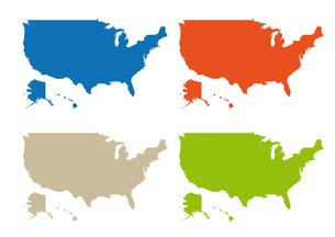 アメリカの地図の素材 [FYI00279765]