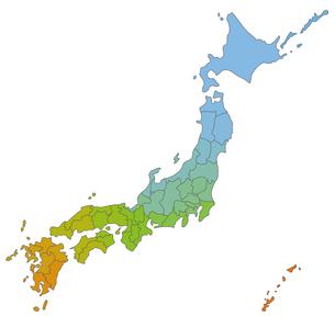 日本地図の写真素材 [FYI00279770]