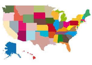 アメリカの地図の素材 [FYI00279773]