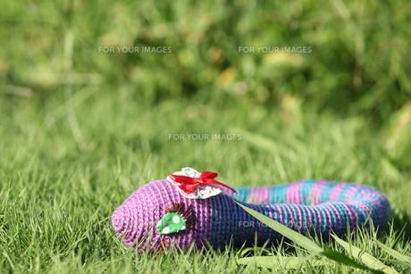 あみぐるみ ヘビの女の子の写真素材 [FYI00279928]