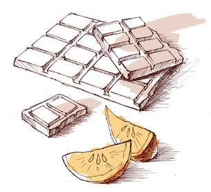 チョコレートとオレンジの写真素材 [FYI00280053]
