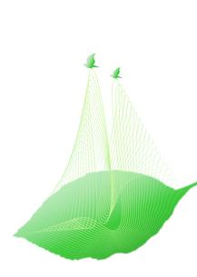 葉を運ぶ小鳥のつがい_Greenの写真素材 [FYI00280164]