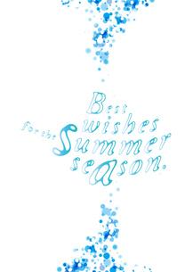 暑中見舞い 水のイメージの写真素材 [FYI00280189]