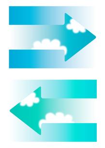 矢印と青空_ヨコの写真素材 [FYI00280191]