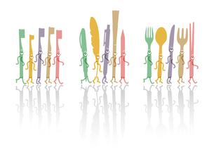 食器・筆記具・歯ブラシキャラクターの写真素材 [FYI00280204]