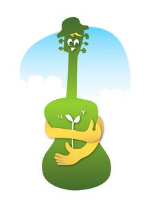 ギター キャラクターの写真素材 [FYI00280223]