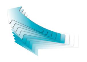 上昇する青い矢印の写真素材 [FYI00280231]