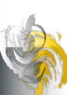 金と銀の手描き素材の写真素材 [FYI00280245]