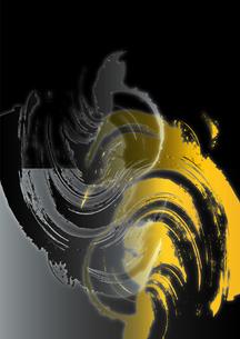 金と銀の手描き素材_黒バックの写真素材 [FYI00280260]