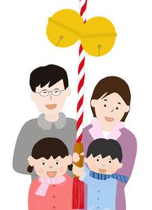 家族で初詣の素材 [FYI00280304]