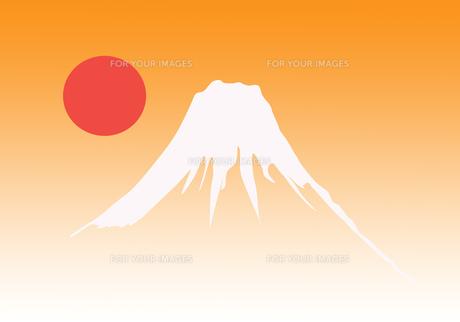 富士山の初日の出の写真素材 [FYI00280336]