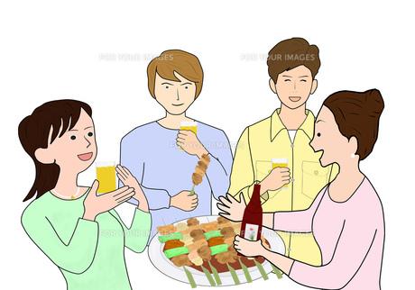焼き鳥で飲み会の写真素材 [FYI00280362]