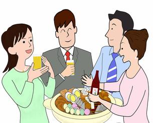 おでんで飲み会の写真素材 [FYI00280363]